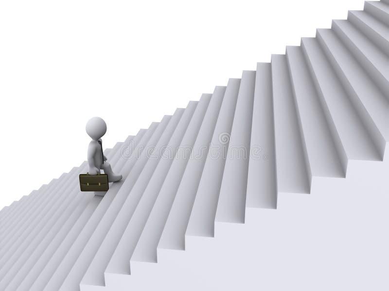 Geschäftsmann steigt Treppen lizenzfreie abbildung