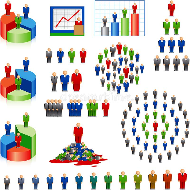 Geschäftsmann-Struktur-Hierarchie-Arbeits-Karriere-Leute-Chef Human R lizenzfreie abbildung
