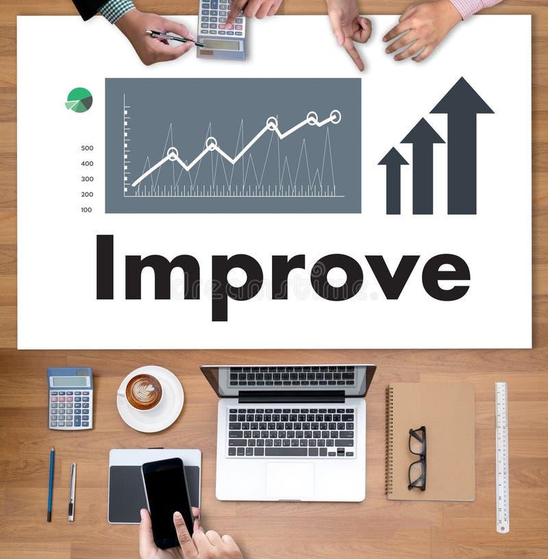 Geschäftsmann Success Increase Improve Ihre Fähigkeiten und machen Sache lizenzfreies stockfoto