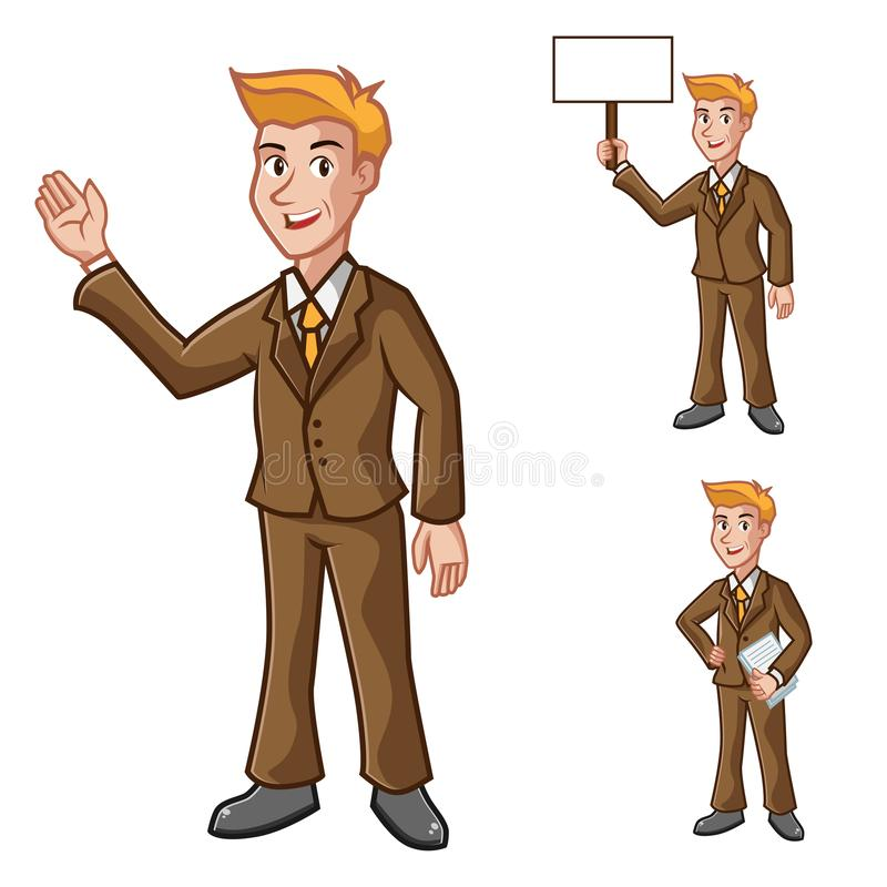 Geschäftsmann-With Suit Vector-Illustration stockbilder