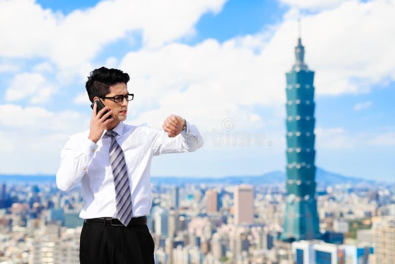 Geschäftsmann in Taipeh stockbilder