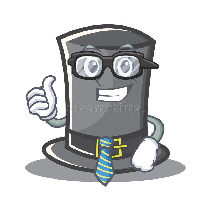 Geschäftsmann-Thanksgiving-Hutcharakterkarikatur vektor abbildung
