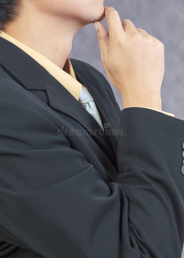 Geschäftsmann Thoughtful lizenzfreie stockbilder