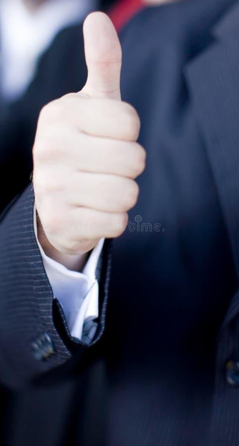 Geschäftsmann Thumbs-up lizenzfreie stockbilder