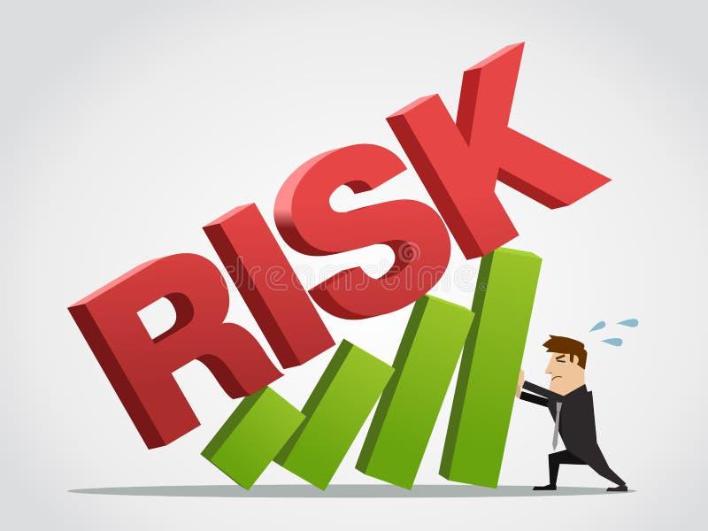 Geschäftsmann trägt die Wachstumstabelle vom Risiko stockbild