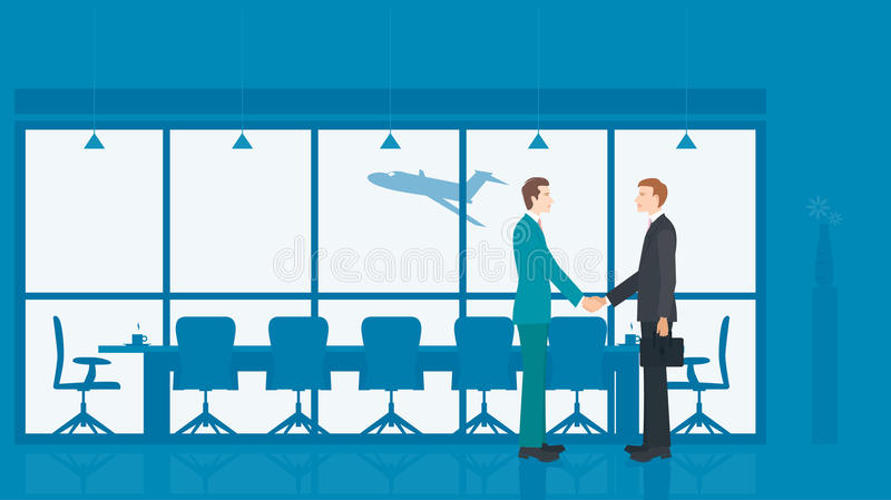 Geschäftsmann-Treffen lizenzfreie abbildung