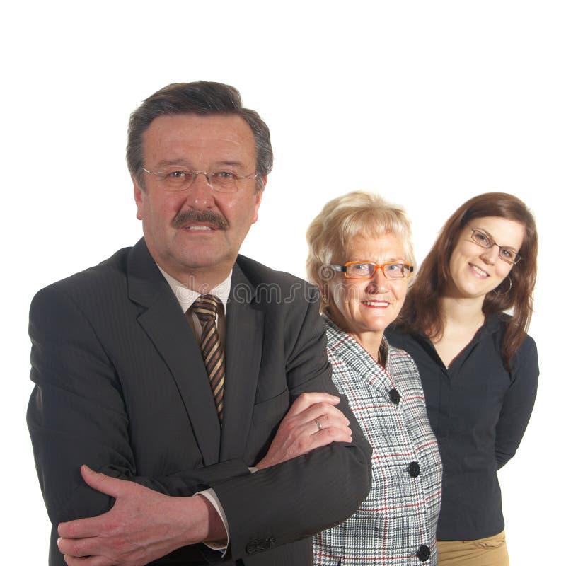 Geschäftsmann Und Mannschaft Kostenloses Stockbild