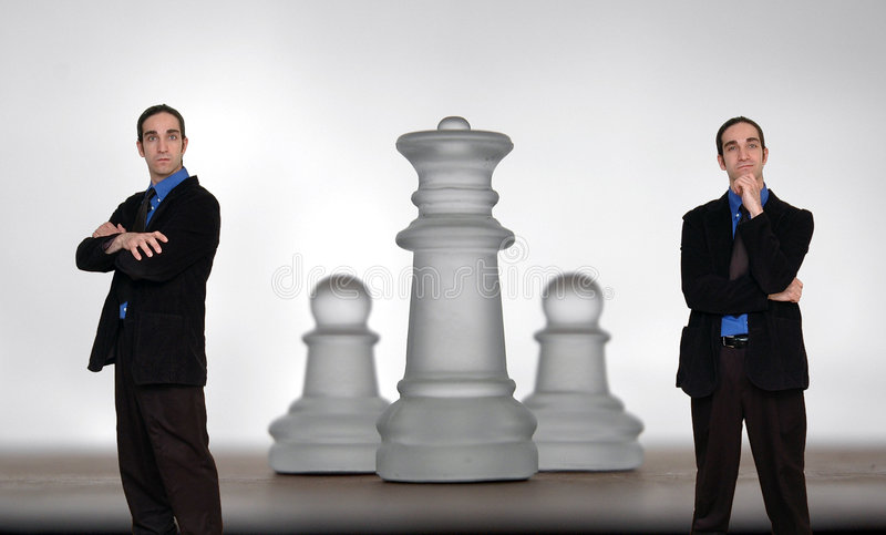 Geschäftsmann und chess-8 stockfotos