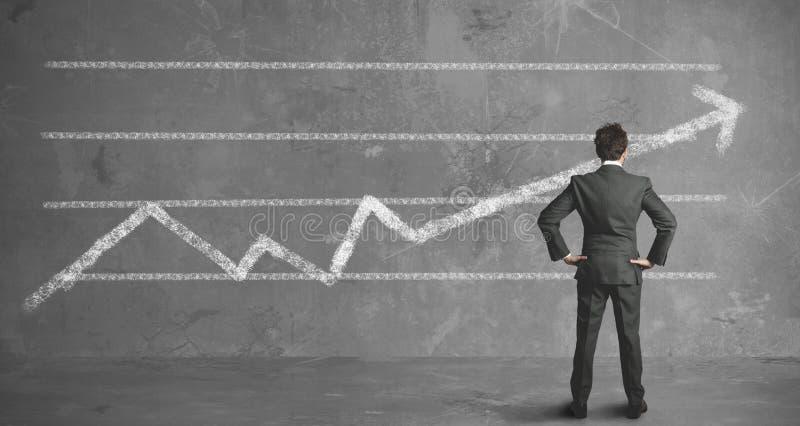 Geschäftsmann- und Firmatendenz stockfotos