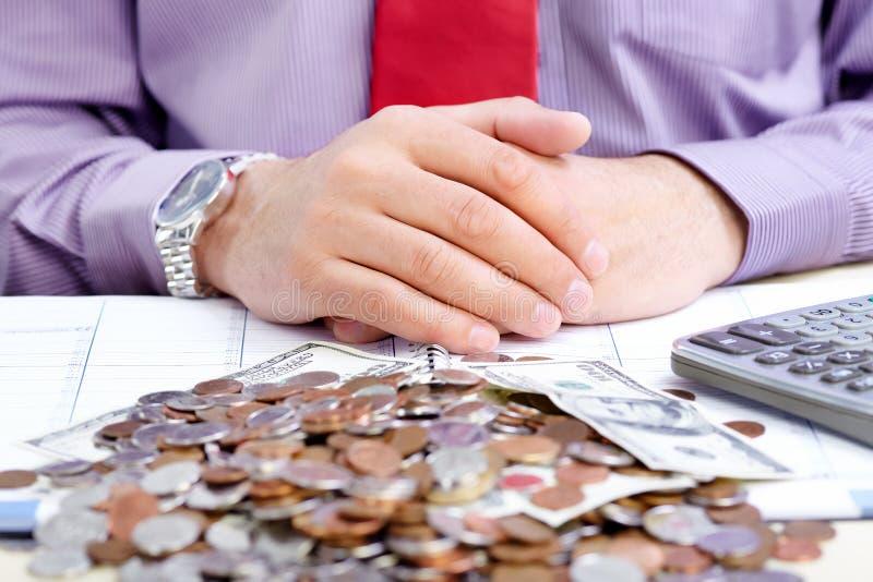 Geschäftsmann Und Geld Kostenlose Stockbilder