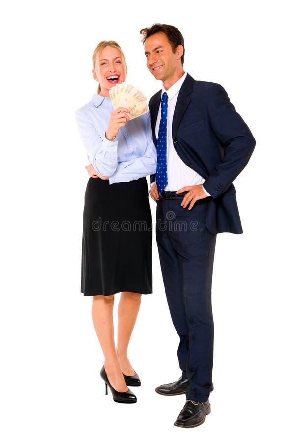 Geschäftsmann und Geschäftsfrau stockbild