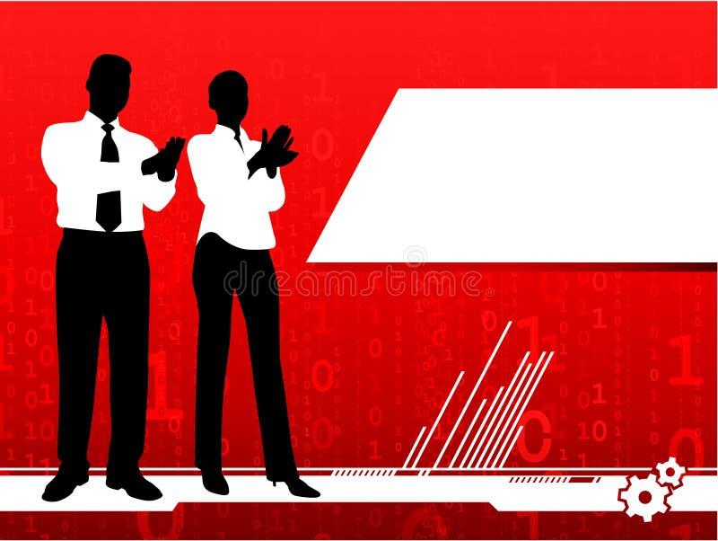 Geschäftsmann- und Geschäftsfrauklatschen stock abbildung