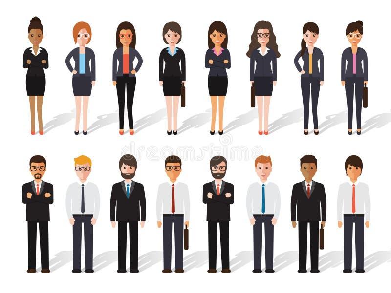 Geschäftsmann- und Geschäftsfrauleute lizenzfreie abbildung