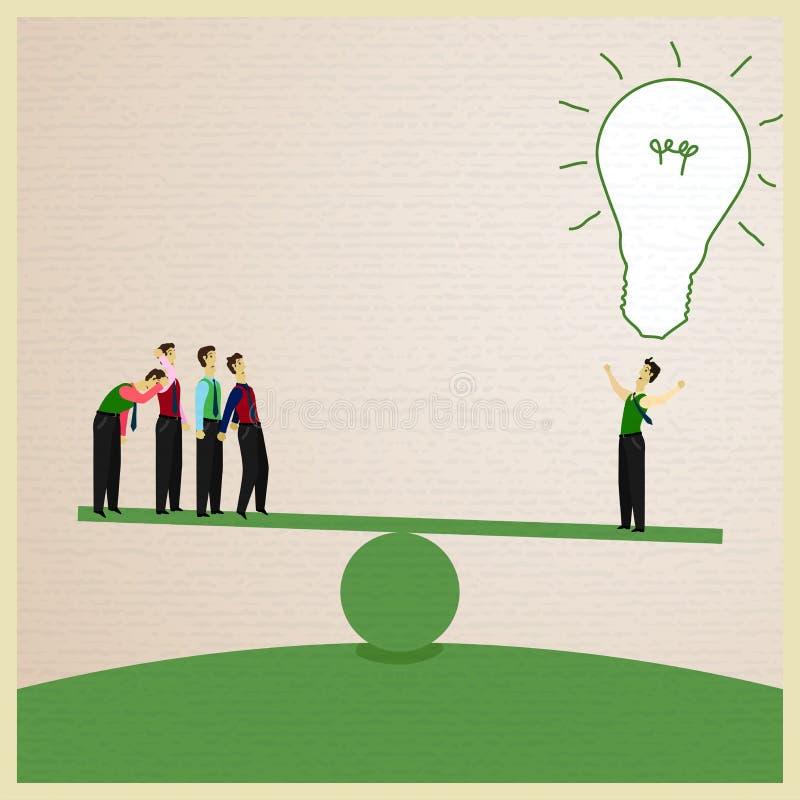 Geschäftsmann und Idee lizenzfreie abbildung