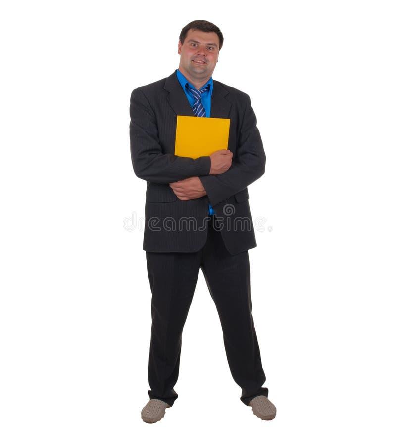 Geschäftsmann und Ordner stockbilder