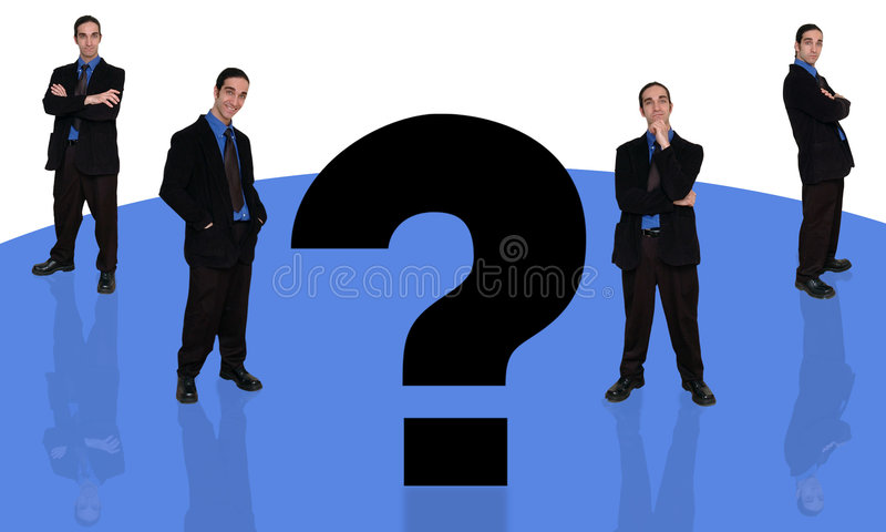 Geschäftsmann und question-4 vektor abbildung