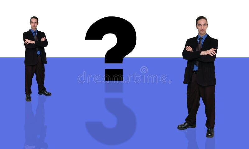 Geschäftsmann und question-9 lizenzfreie abbildung