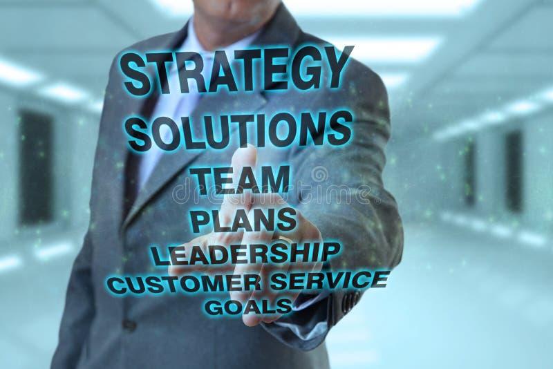 Geschäftsmann und Strategiekonzepte stockbild