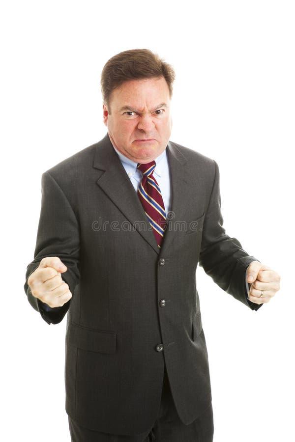 Geschäftsmann wütend lizenzfreies stockfoto
