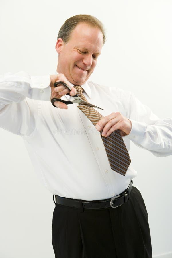 Geschäftsmannausschnittgleichheit stockfotografie