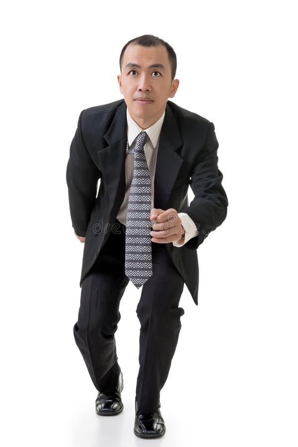 Geschäftsmannbetrieb stockfoto
