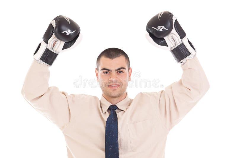 Geschäftsmannboxer lizenzfreies stockfoto