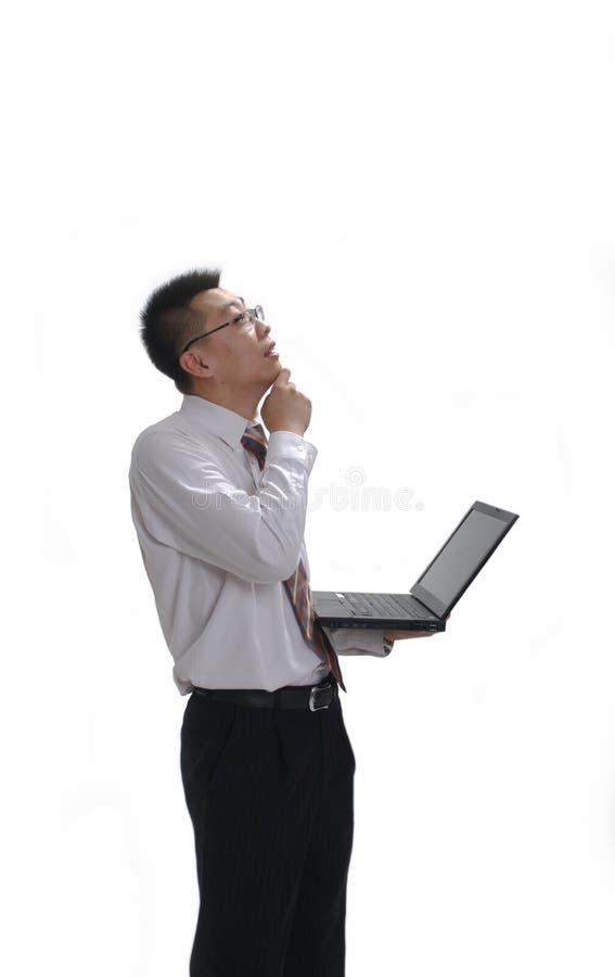 Geschäftsmanndenken stockfotos