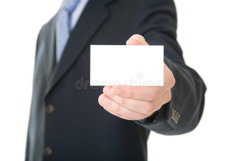 Geschäftsmannerscheinenkarte lizenzfreie stockfotos
