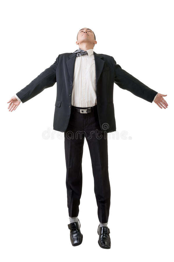 Geschäftsmannfliegen stockbilder