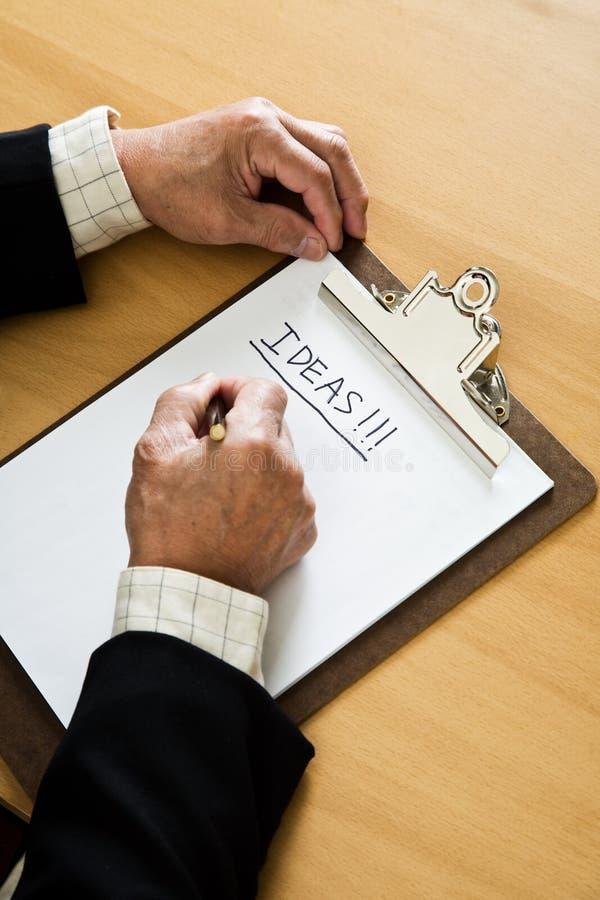 Geschäftsmanngeistesstörung stockbild