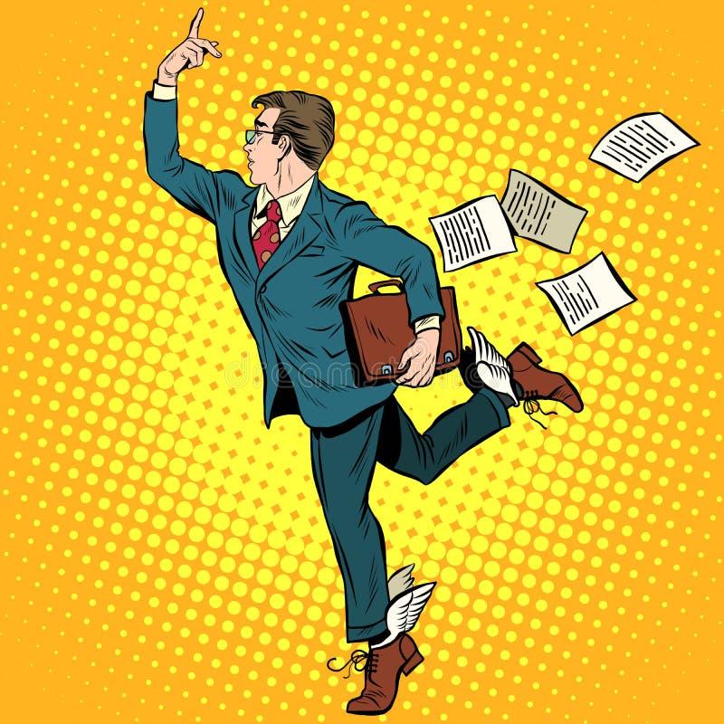 Geschäftsmanngott von Geschäfts-Mercury stock abbildung