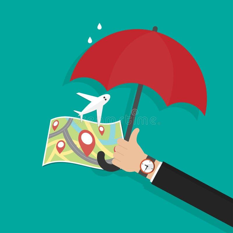 Regenschirm Im Flugzeug