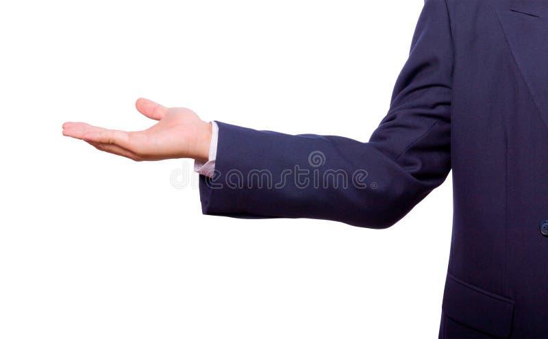 Geschäftsmannhand getrennt stockbilder