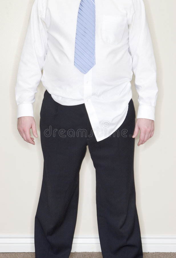 Geschäftsmannhemd untucked lizenzfreies stockbild