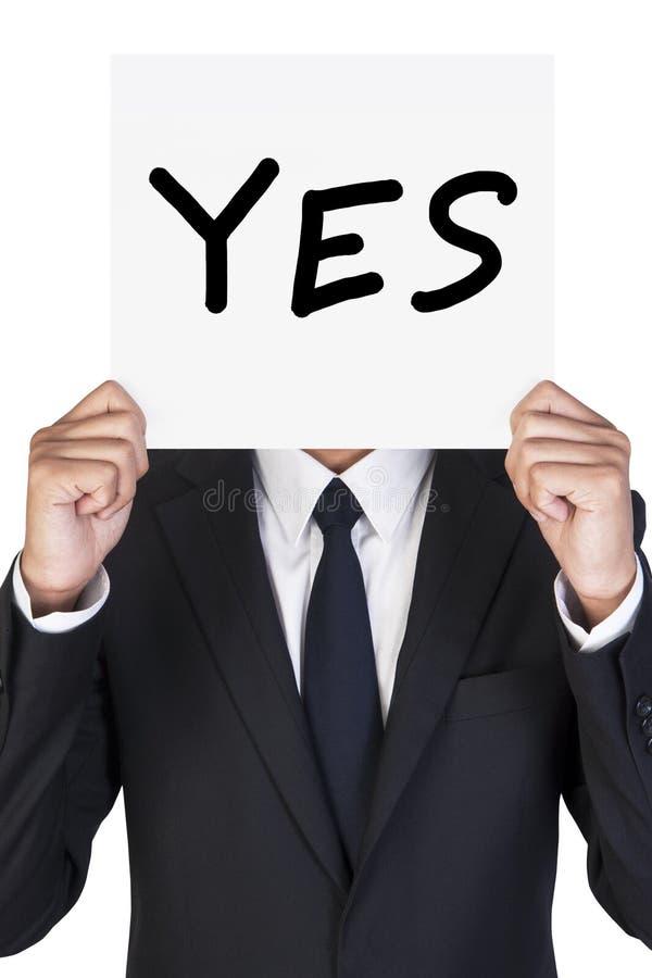 Geschäftsmannholdingpapier lizenzfreies stockbild