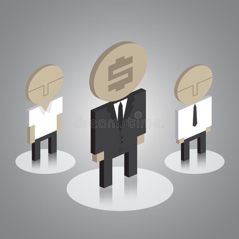Geschäftsmannikonen stockbild