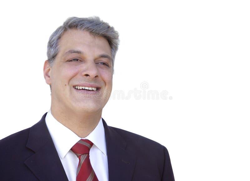 Geschäftsmannlächeln stockfotografie
