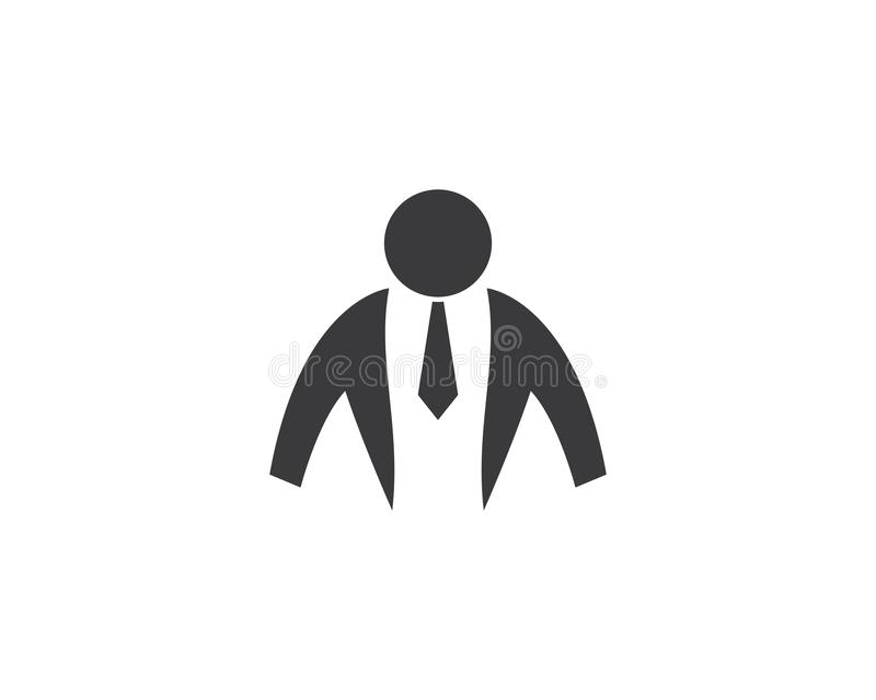 Geschäftsmannlogoillustration vektor abbildung