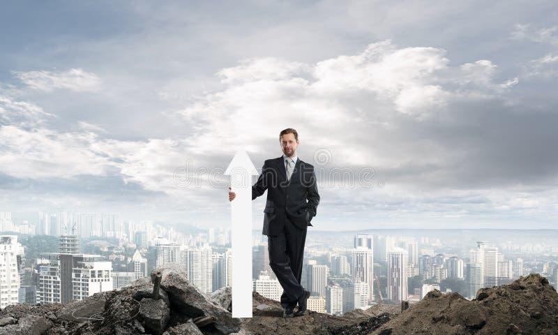 Geschäftsmannstartbegriffsbild stockfotos