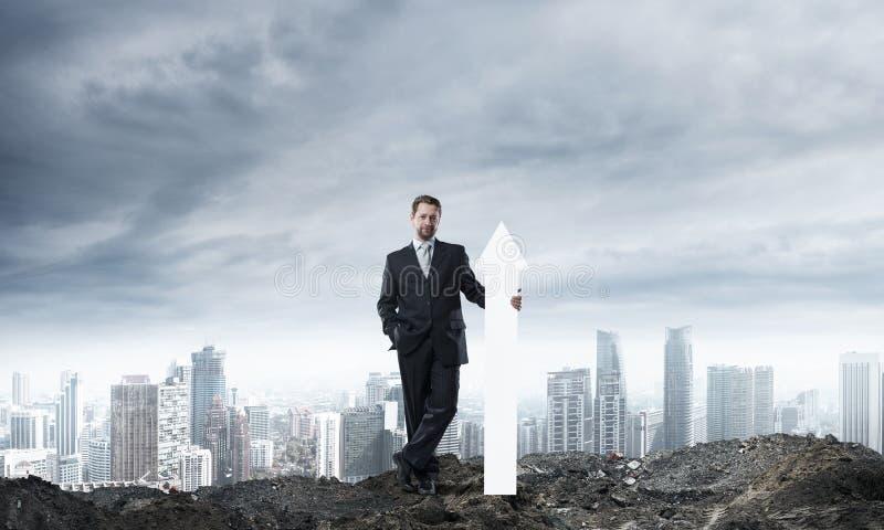 Geschäftsmannstartbegriffsbild stockbild