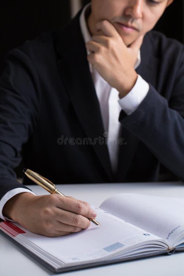 Geschäftsmanntagesordnung stockfotografie