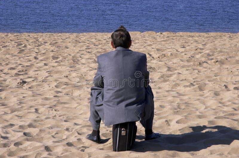 Geschäftsmannträume lizenzfreies stockfoto