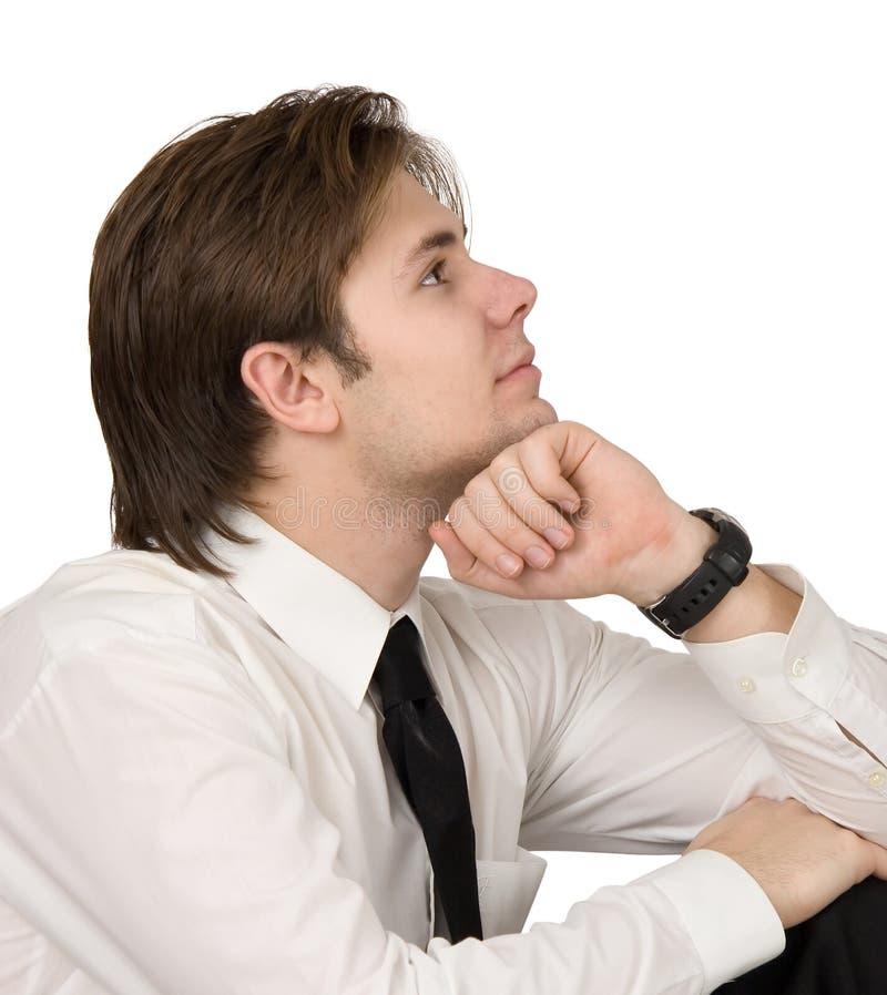 Geschäftsmannträumen lizenzfreie stockbilder