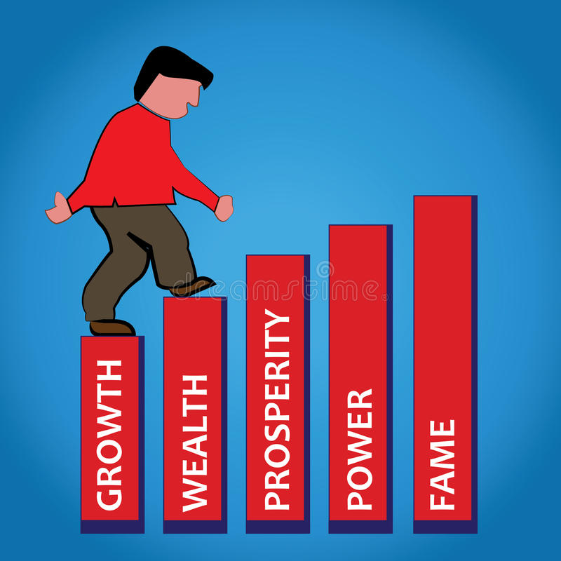 Geschäftsmannwachstumsdiagramm stock abbildung
