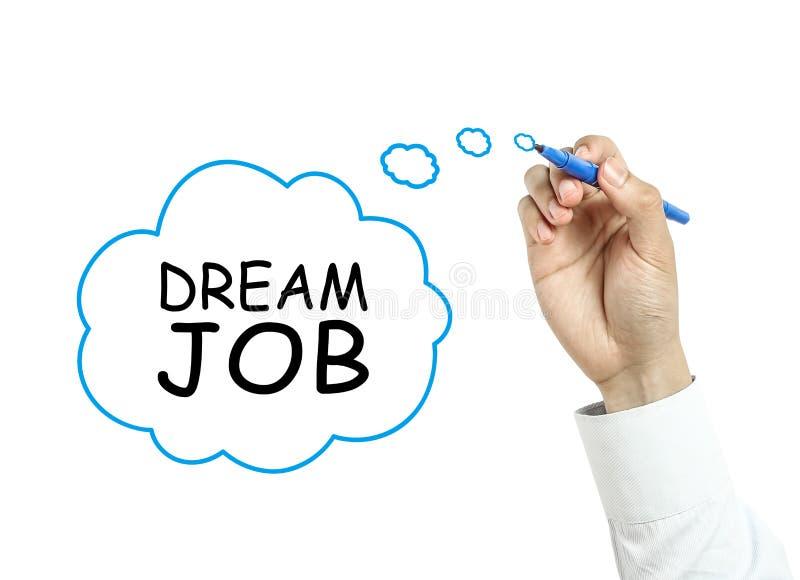 Geschäftsmannzeichnungstraum-Jobkonzept stockbild