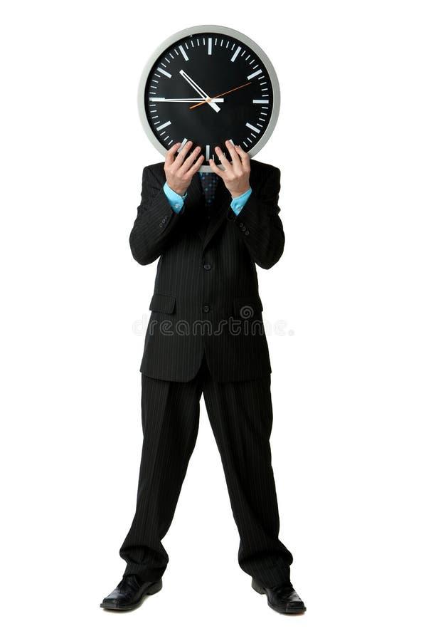 Geschäftsmannzeit stockfotografie