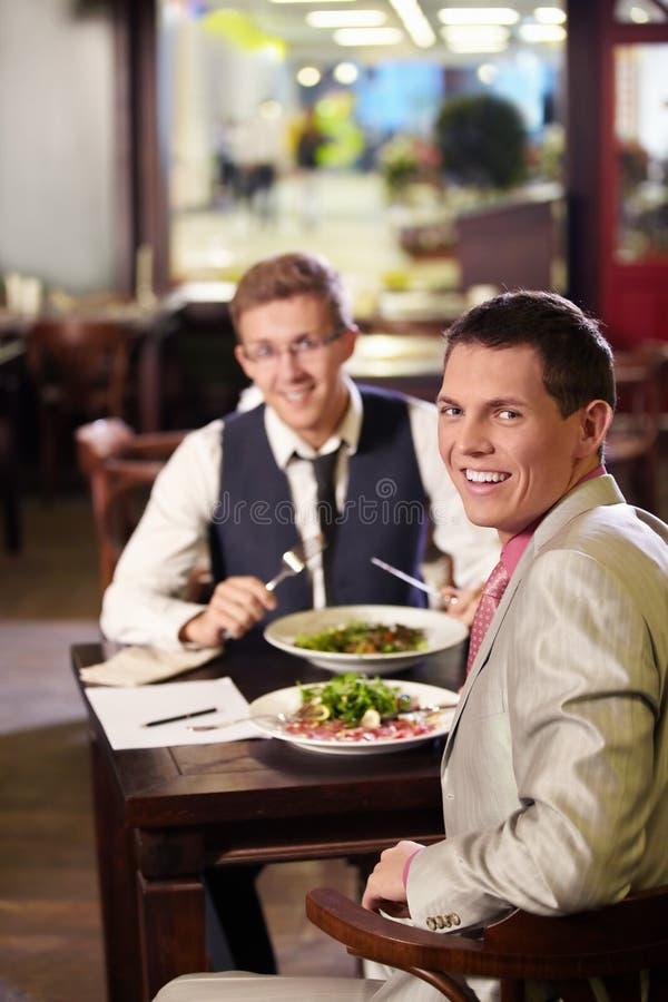 Geschäftsmittagessen stockfoto