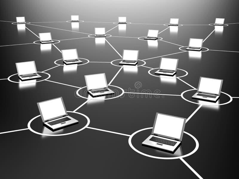 Geschäftsnetz lizenzfreie abbildung