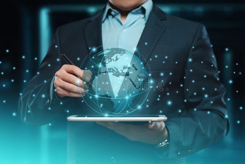 Geschäftsnetzinternet-Technologiekonzept Digital-Kugel internationales lizenzfreies stockbild