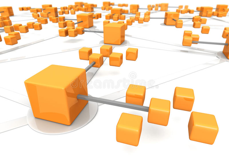 Geschäftsnetzkonzept marco Effekt stock abbildung